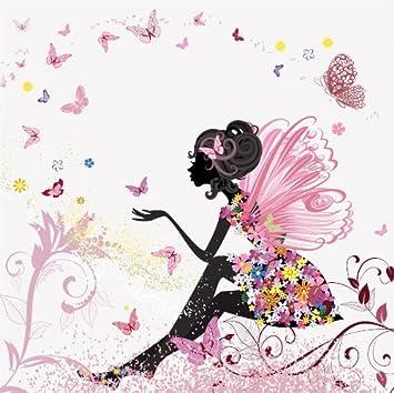 Fototapete kinderzimmer mädchen  Fototapete Schmetterlingselfe KT438 Größe: 300x260cm Kinder ...