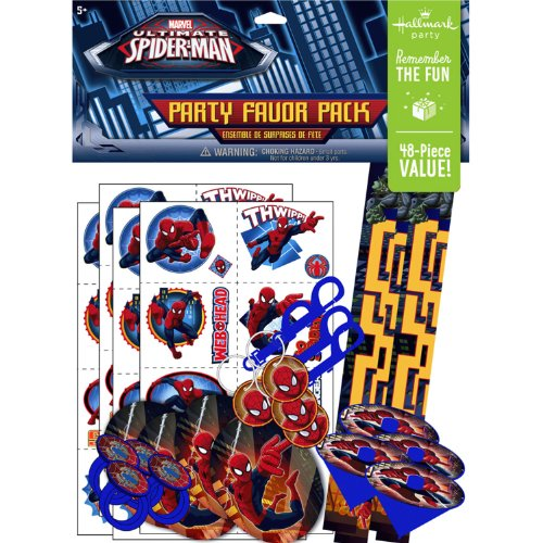 (KidsPartyWorld.com Spiderman Party Favor Value)