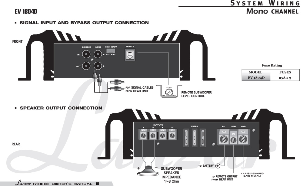 car audio crossover wiring diagrams amazon.com: lanzar ev1804d evolution series 4000 watt ... #8