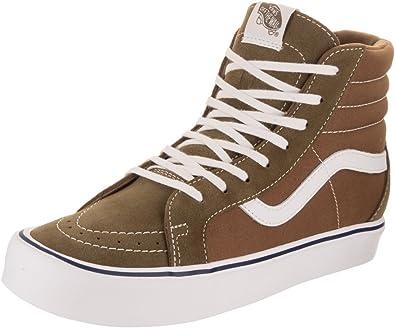 herir Posada Estándar  Amazon.com: Vans Sk8-Hi Reissue Li - Zapatillas de skate unisex, Marrón:  Shoes