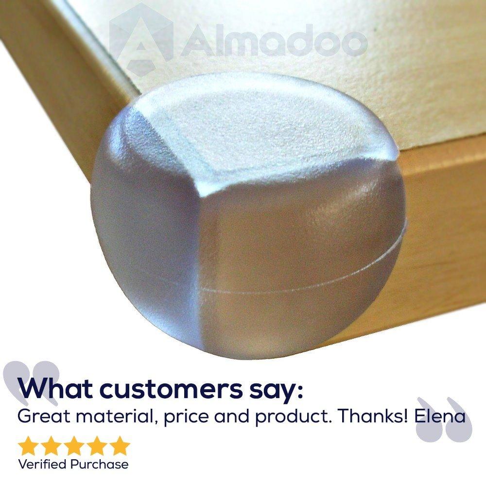Hochwertige Baby Kindersicherung Kantenschutz mit Klebe-Power 12er Set selbstklebend Sicherer Eckenschutz aus gepr/üftem Kunststoff transparent