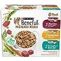 Purina Beneful Prepared Meals Stew Variety Pack Wet Dog Food, (6) 10 oz. Tubs