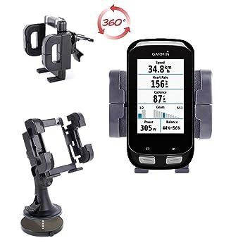 DURAGADGET Soporte Coche Con Abrazadera Para Navegador GPS Garmin Edge 1000/810 / 510: Amazon.es: Electrónica