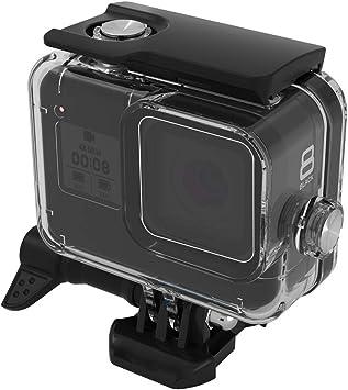 BECEMURU GoPro HERO8 Estuche hermético a Prueba de Agua 60m/197ft Carcasa de natación Profesional Anti-arañazos para Submarinismo Shell con Soporte para cámara dji GoPro HERO8 Negro: Amazon.es: Electrónica