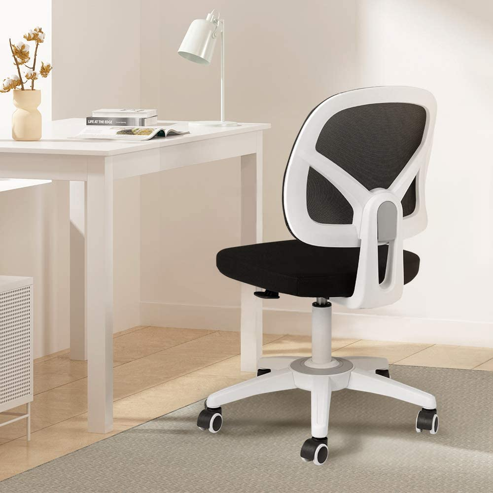 Hbada Office Chair, Mesh Desk Task Chair, Ergonomic Computer Chair with Adjustable Height for Adults and Kids,White …