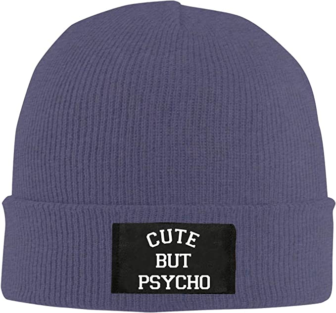 BF5Y6z/&MA Mens and Womens Cute But Psycho Knit Cap 100/% Acrylic Wool Beanies Cap