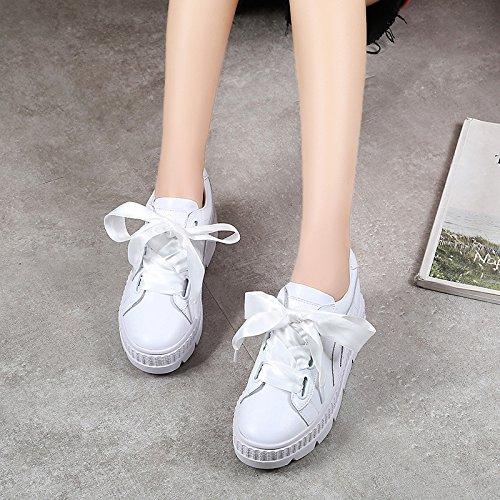 Festival Chaussures Fond 36 Femmes De Sports Blanc Printemps Femme Loisirs Muffins paisses Kphy 8dx6twzq8
