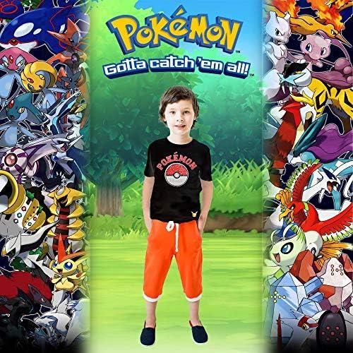 Pokémon Maglietta A Maniche Corta per Ragazzi Paillettes Bidirezionale sul Davanti   T-Shirt Nero 100% Cotone con Motivo Poké Ball & Pikachu   Maglietta Ufficiale