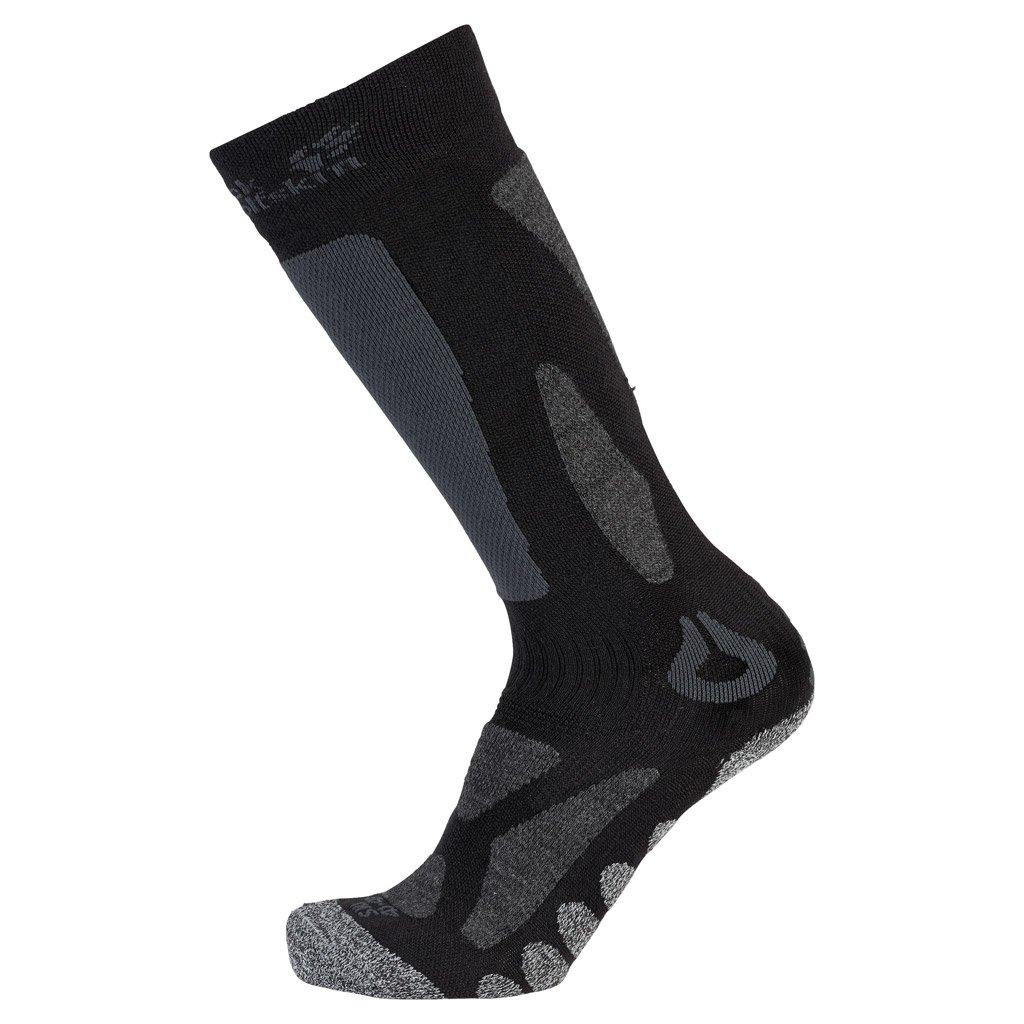 Jack Wolfskin high cut merino ski socks, Unisex, Socken Ski Merino Sock High Cut Black 1904451