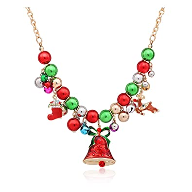 boderier Christmas Xmas Holiday Jingle Bell Necklace Women Statement Bells  Pendant Necklace Party Jewelry(Bells - Amazon.com: Boderier Christmas Xmas Holiday Jingle Bell Necklace