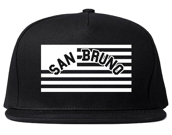 da35d32f83f City Of San Bruno with United States Flag Snapback Hat Cap Black at ...