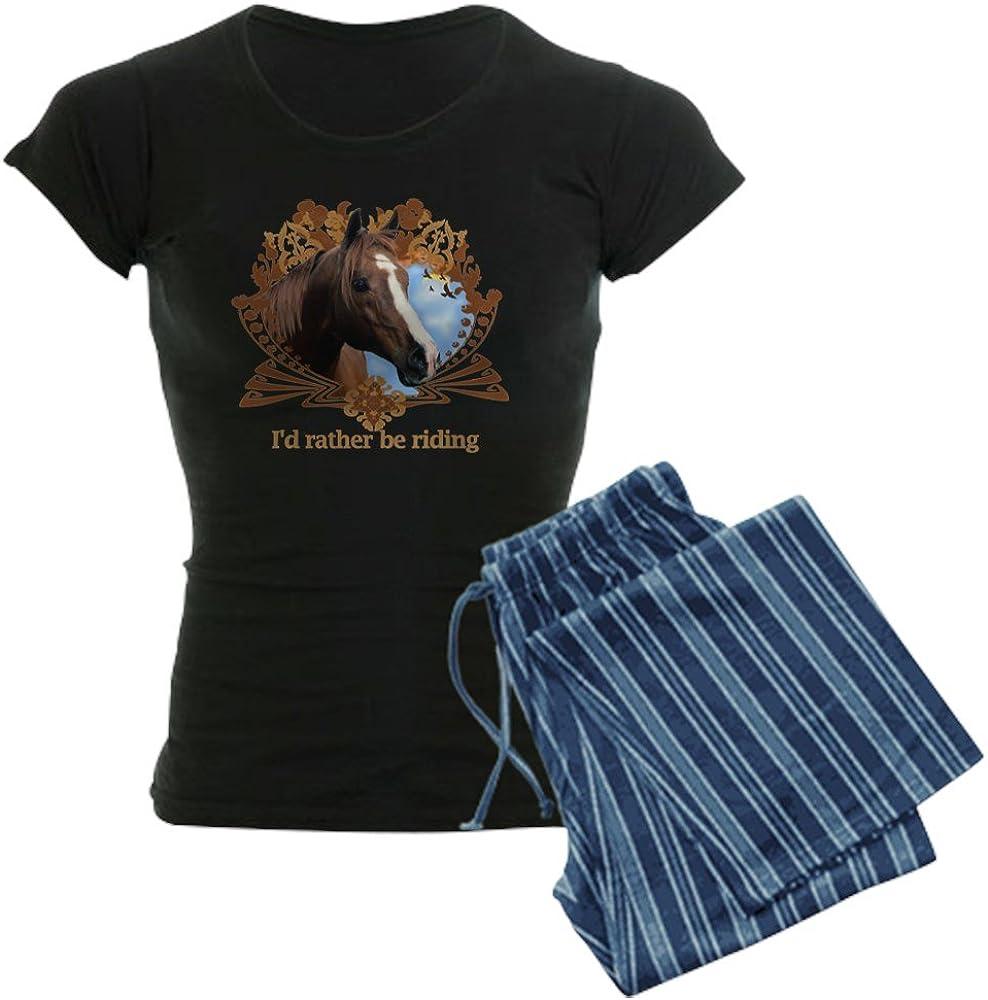 Horse Womens Novelty Cotton Pajama Set Comfortable PJ Sleepwear CafePress Id Rather Be Riding