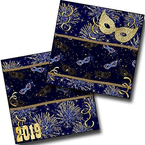 (Masquerade 2019 NPM - Premade Scrapbook Pages - EZ Layout 3683)