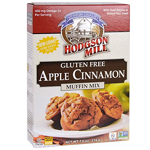 Hodgson Mill Apple Cinnamon Gluten-Free Muffin Mix, 7.6-Ounce Boxes (Pack of 6), Gluten-Free Muffin Box Mix, Delicious and Easy Breakfast or Nutritious Snack, Use as a Gluten-Free Pancake Mix -