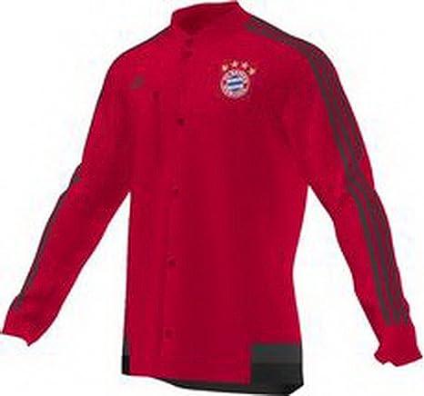 adidas FC Bayern Múnich - Chaqueta abotonada, Rojo y Negro Red ...