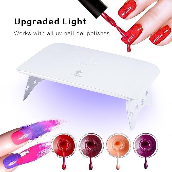 Lámpara de uñas de 24W, Secador de uñas portátil, LED para uñas