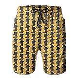 Ancharpin Men's Cowboy Boot Hat Casual Quick Dry Beach Shorts Pockets Swim Trunk Short Pants