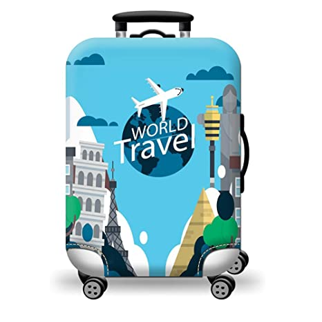 Kuke Funda protectora para maleta de viaje, varios tamaños, gruesa, duradera, colorida