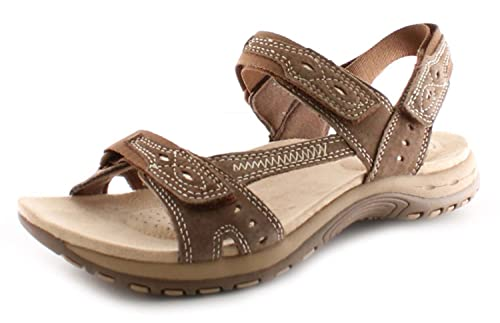 936c7b8aef11 New Ladies Womens Brown Earth Spirit Arlington Touch Fastening Sandals -  Brown - UK SIZE