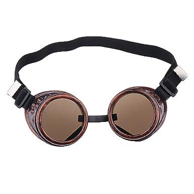 Gafas de Estilo Steampunk Soldadura Cibernéticos para Cosplay (Cobre)
