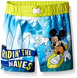 Disney Baby-Boys Mickey Trunk, Blue, 12 Months