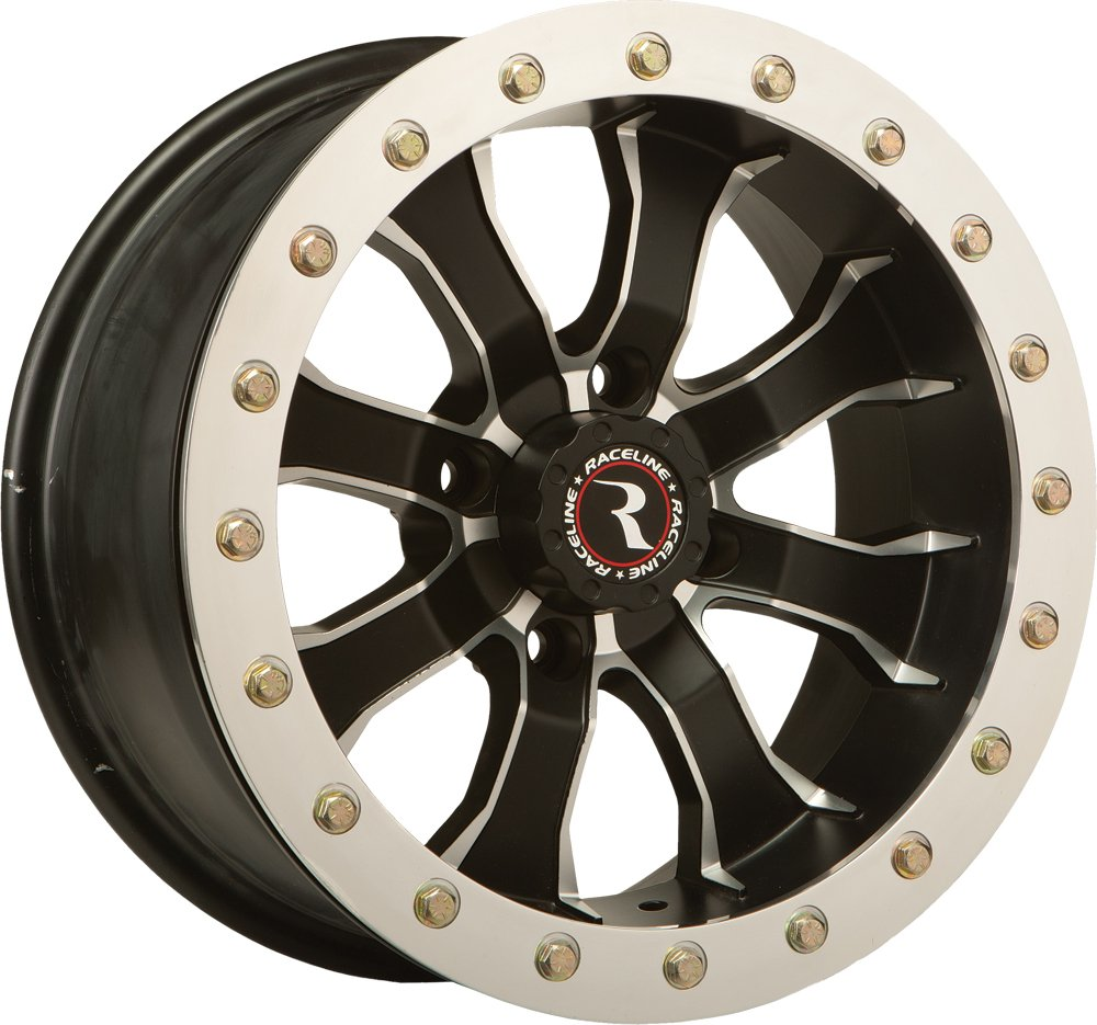 Raceline RT-Mamba Beadlock 12 Black Wheel / Rim 4x110 with a 25mm Offset and a Hub Bore. Partnumber A7127011-52 by Raceline (Image #1)