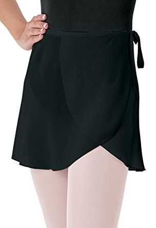 f69abb06c Balera Skirt Girls Wrap for Ballet Dance Georgette Tie Waist Black Child  X-Small