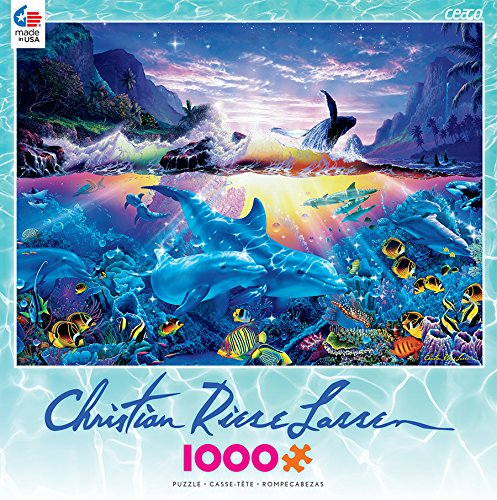 Christian Riese Lassen: Majestic Kingdom - Ocean Dance: Ceaco 1000 Piece Jigsaw Puzzle, Completed Size 20