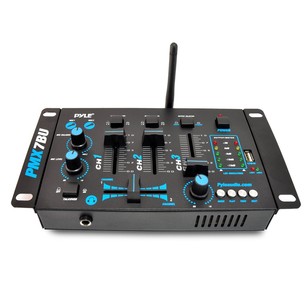 galleon wireless dj audio mixer machine 3 channel bluetooth compatible dj controller sound. Black Bedroom Furniture Sets. Home Design Ideas