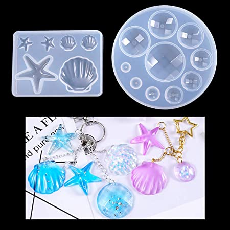 Silicone Fondant Moulds Sea Shell Crystal Epoxy Mould Marine Life Series