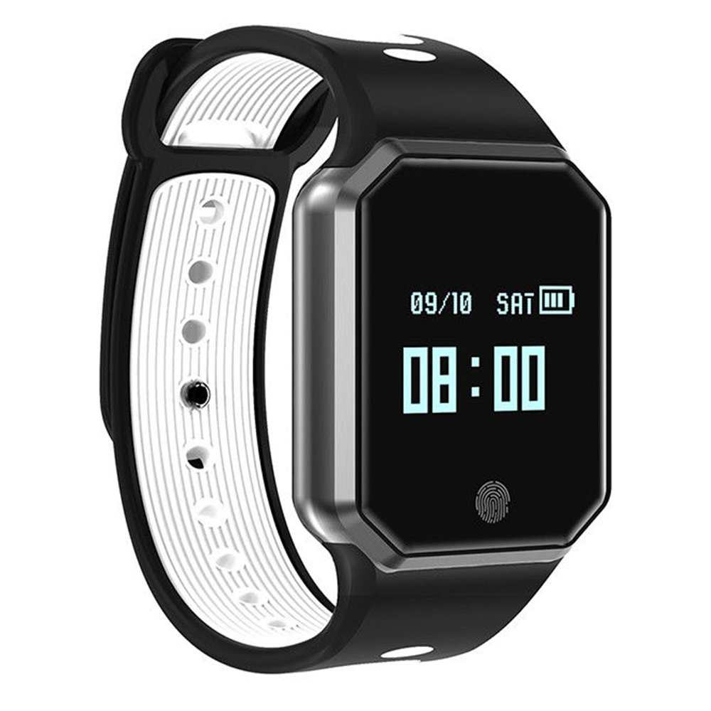 Auntwhale IP67 Waterproof Smart Band Android,IOS,Information Push, Heart Rate Monitoring, Pedometer, Sleep Monitoring - White