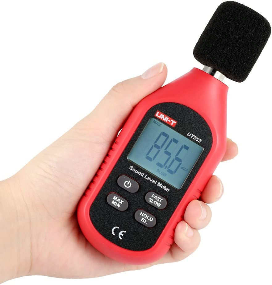 Medidor de Sonido,medidor de decibelios Digital,Sonómetro profesional,Tester de ruido ambiental 30-130dB,valor max/min,medición rápida/lenta