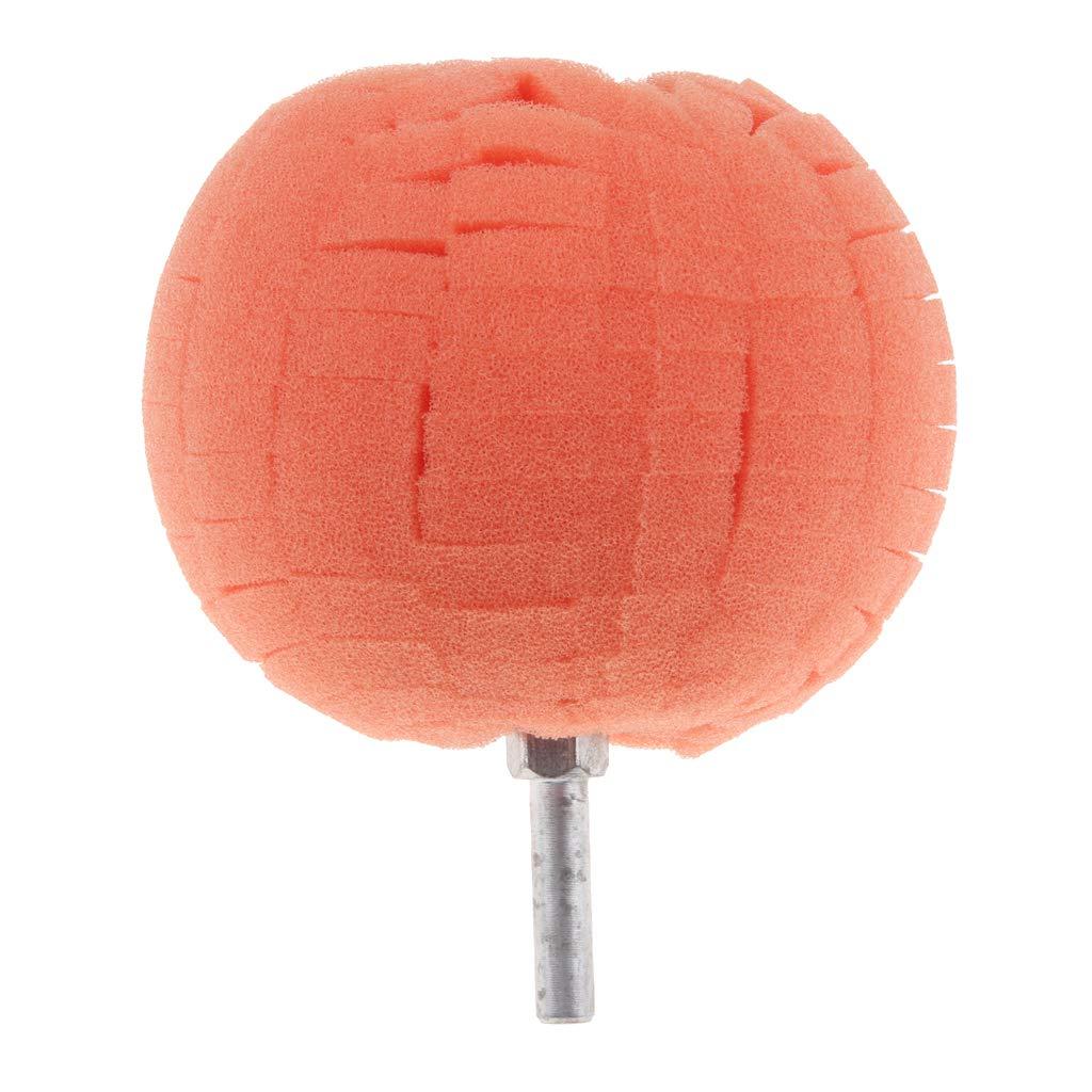 Red 8x10cm 6mm Shank B Blesiya Round Polishing Pads Sponge Buff Pads for Car Polisher