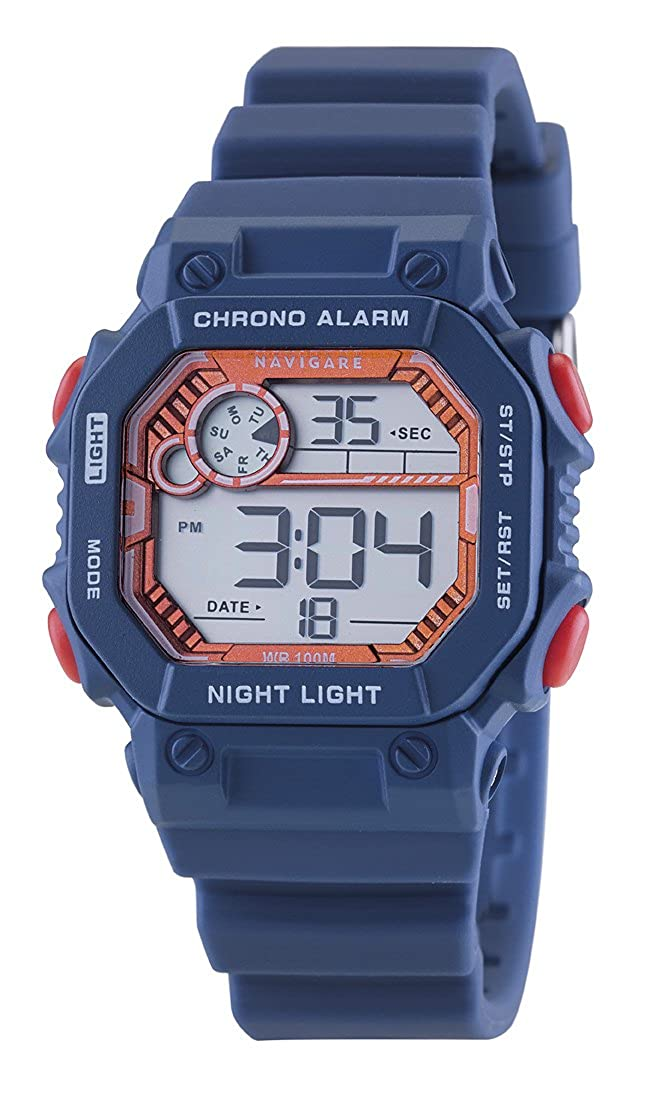 Reloj Navigare Digital de niño, regalo para comunión o confirmación, resistente al agua: Amazon.es: Relojes