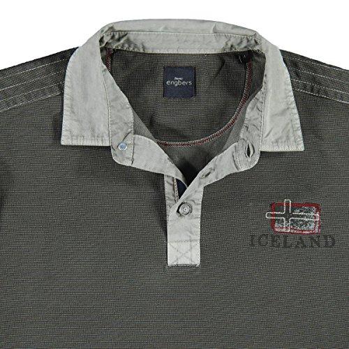 engbers Herren Poloshirt Langarm, 24312, Grau