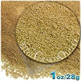 The Crafts Outlet MCR-GLS-MTL-MA6-CHM Metallic Glass Microbead, 1 Bag of 1-Ounce, Yellow Champagne