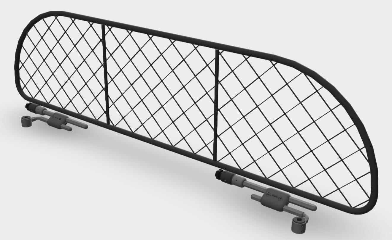 per trasporto cani e bagagli. Divisorio Griglia Rete Divisoria Ergotech RDA65-XS16