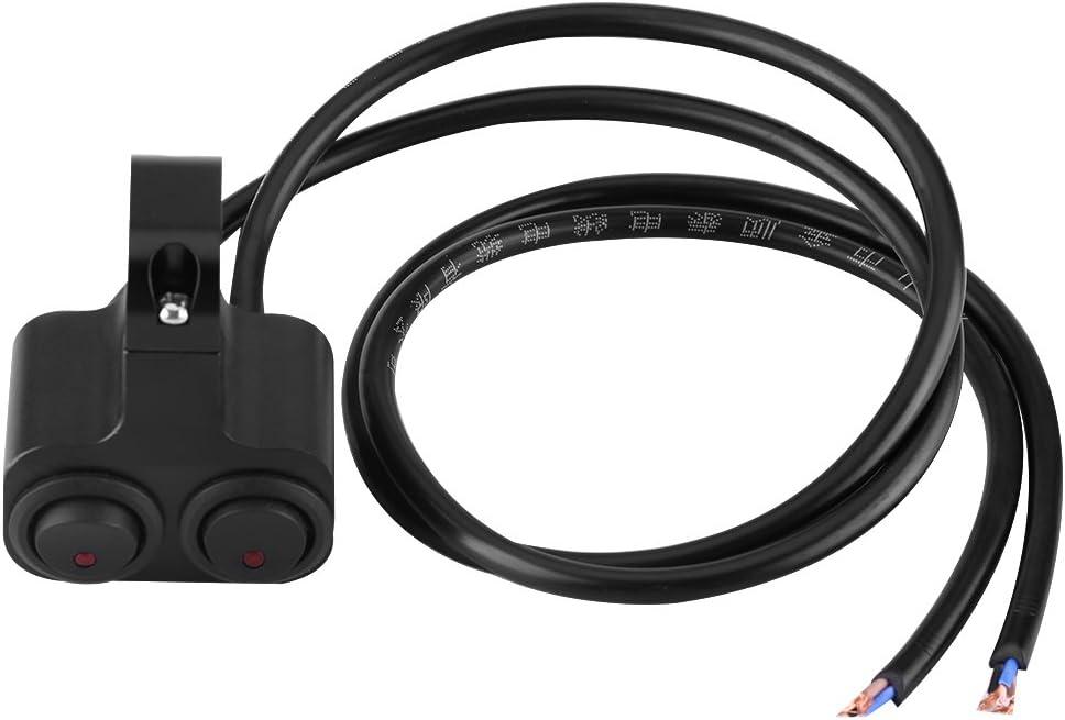Interruptor de manillar Interruptor LED de motocicleta ON-OFF Manillar DC12V Faros delanteros Fog Lite Horn Start Kill Impermeable de montaje ajustable Interruptor de la moto Color : Verde