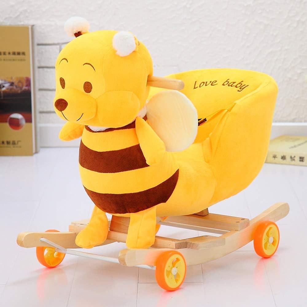 赤ちゃん新生児バウンサーチェア木製ロッカーおもちゃ子供ロッカー木製ロッキングホース1-3歳、女の子男の子用