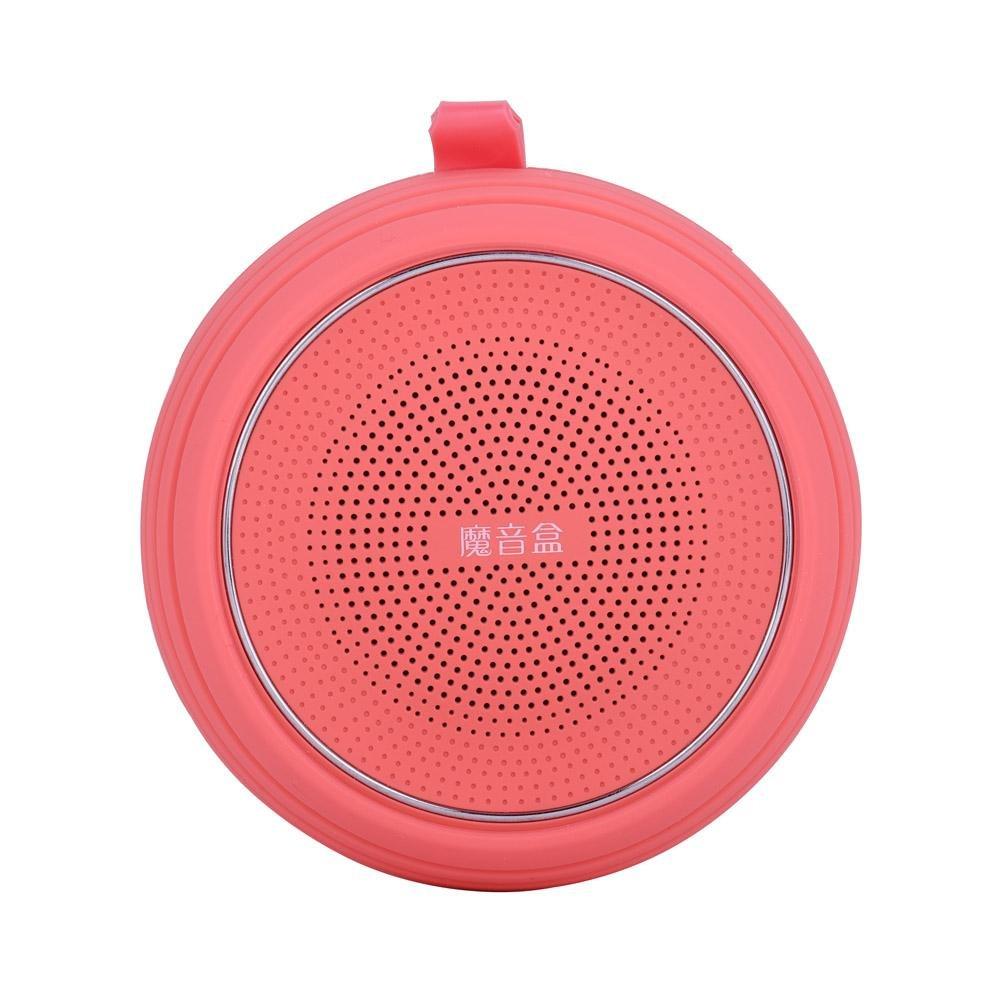 fosa ワイヤレスBluetoothスピーカー ミニ重低音 Echo 音楽スピーカー FMラジオ ハンズフリー電話 ノイズキャンセリング 自宅 オフィス 素晴らしいギフト, fosagiea6mdo4p-01  レッド B07F6Y1PC5