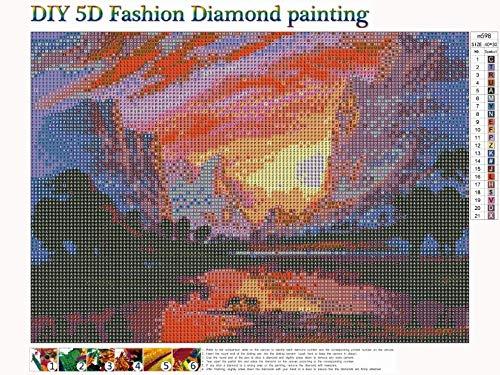 5D diamond painting Full Drill City Landscape Embroidery Diamond Mosaic Picture Rhinestones Craft Needlework Home Decor40x30cm