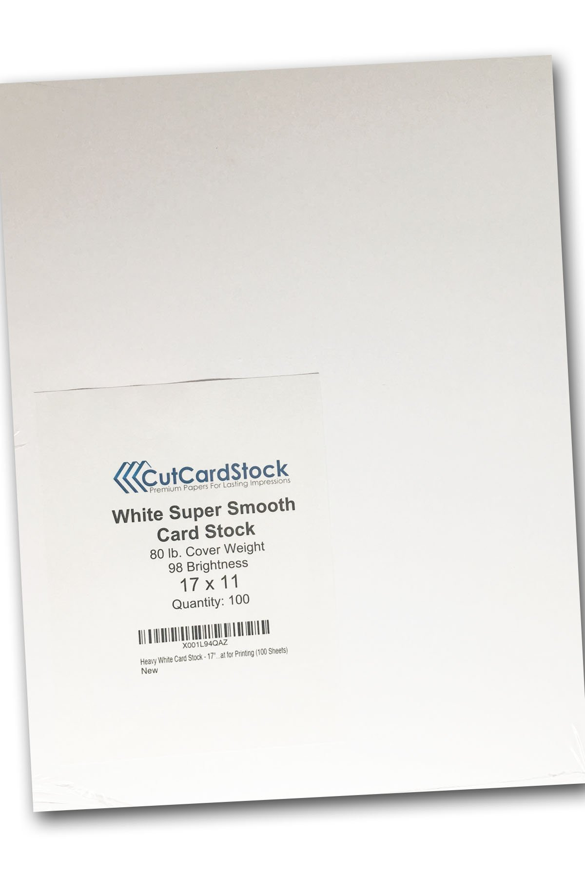 Heavy White Card Stock - 17'' x 11'' Premium 80 Lb. Cover Super Smooth - Great for Printing (100 Sheets)