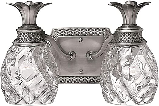 Hinkley Plantation Collection Tropical Two Light Bathroom Vanity Fixture