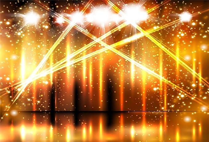 Leyiyi 10x6.5ft Luxury Stage Spotlight Backdrop Concert Live Plateform Banner Vintage Curtain Celebrity Background Drama Music Show Kids Birthday Adults Vlogger Portrait Studio Prop Vinyl Wallpaper