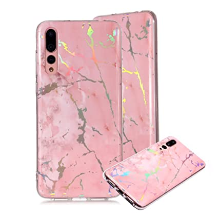 online store 252f4 12b60 Amazon.com: Marble Phone Case for Huawei P20 Pro,Cover for Huawei ...