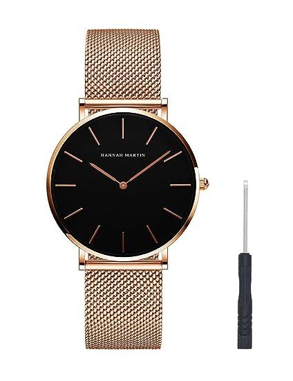 san francisco 6832b a2a6e Amazon   レディース 腕時計 Hannah Martin おしゃれ クラシック ...