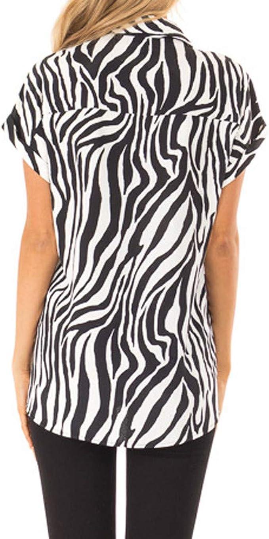 SHJIRsei Camisetas Mujer Camiseta de Manga Corta con Estampado de Cebra de Moda Camiseta Casual Verano Blusa Casual Tops Camiseta Suelta Corta Mujer 2019: Amazon.es: Ropa y accesorios