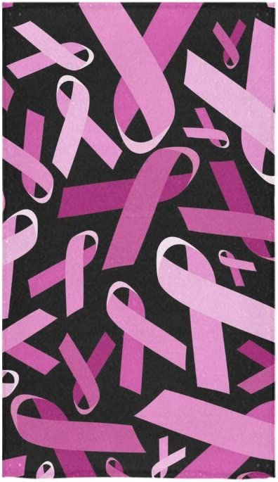 "30/""x60/"" Breast Cancer Awareness Pink Ribbon Cotton Microfiber Beach Towel"