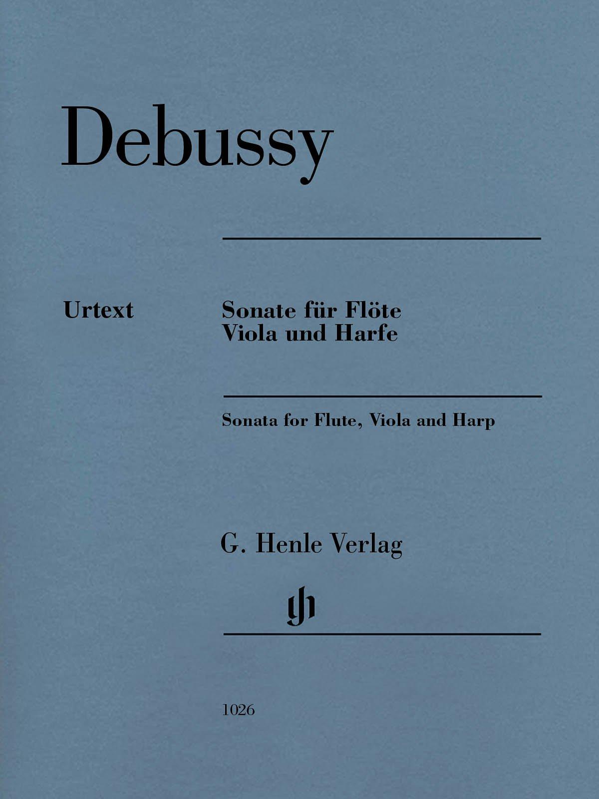 Viola and Harp Set Sonata For Flute Score Viola And Harp Claude Debussy Flute