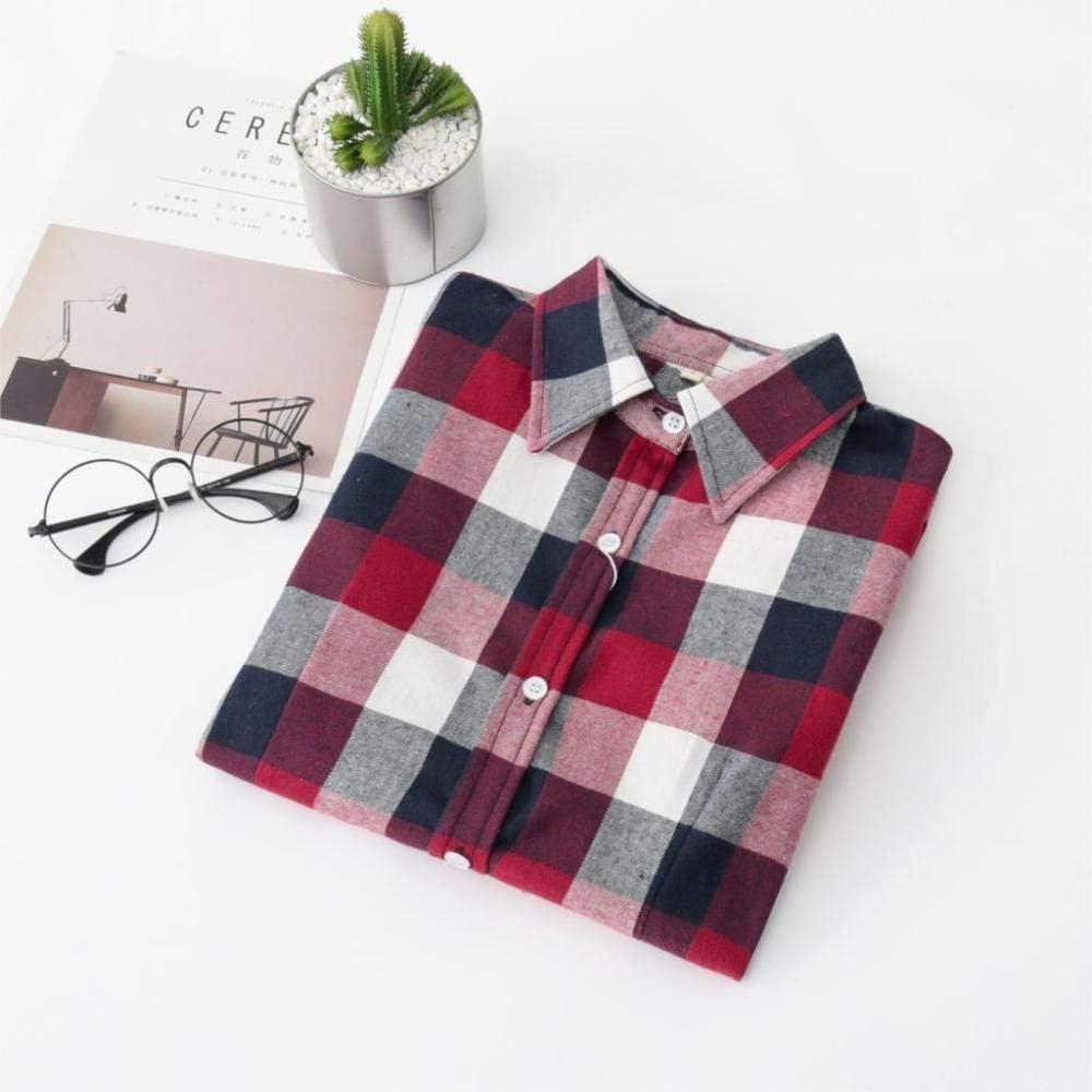 Camisa De Mujer Blusas A Cuadros Camisas Blusa De Manga Larga ...